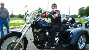 bea on motorcycle