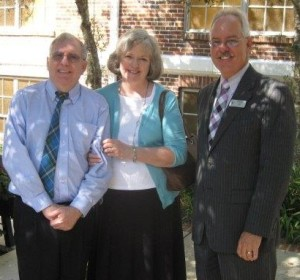 Rev. Raymond Guterman with wife, Donna, and Stve Benz