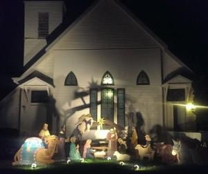 Nativity Scene at San Mateo Presbyterian Church