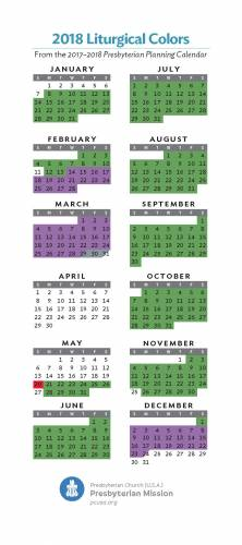 2018 liturgical colors 2018 liturgical colors presbyterian planning calendar