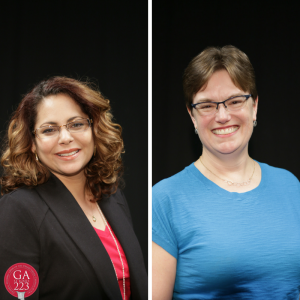 Ruling Elder Vilmarie Cintrón-Olivieri and The Rev. Cindy Kohlmann have been elected as Co-Moderators of the 223rd General Assembly!