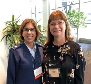 Rev. Sandra Hedrick (right) with Rev. Amy Hunt (left).